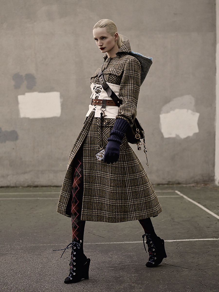 CHECKED COATS FOR ELLE GERMANY